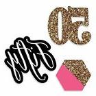Chic 50th Birthday - Pink Black and Gold - DIY Shaped Party