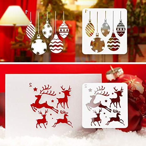 Kizh Pcs Plastic Art Journaling Holiday Xmas Snowflake Window Body Wood