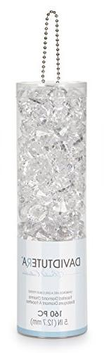 David Tutera Faceted Acrylic Diamond Shape with Charm Hole -
