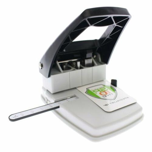 Desktop ID Card Punch Name Badges - Three in One Slot Puncher