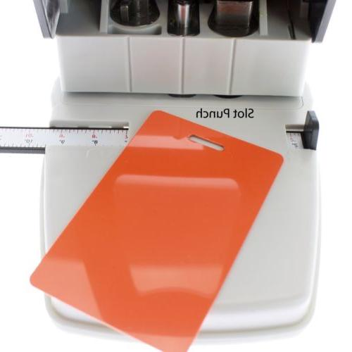 Desktop ID Card Hole Punch for Badges in One