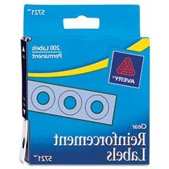 "Avery 1/4"" Round Self-Adhesive Reinforcement Labels, Clear,"