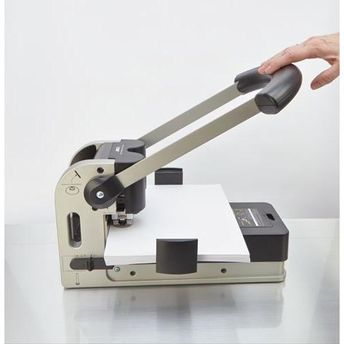 CARL Two-Hole Punch, Sheets, Gray