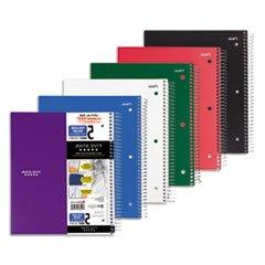 Five Star Wirebound Notebook, College Rule, 3-Hole Punch, 5