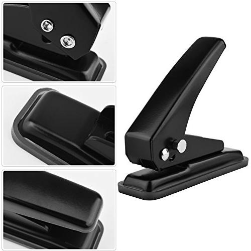 "MROCO Force 1-Hole Punch, Capacity, 1/4"" Puncher, Paper Punch with for Paper, Chipboard, Metal, Paper and Art"