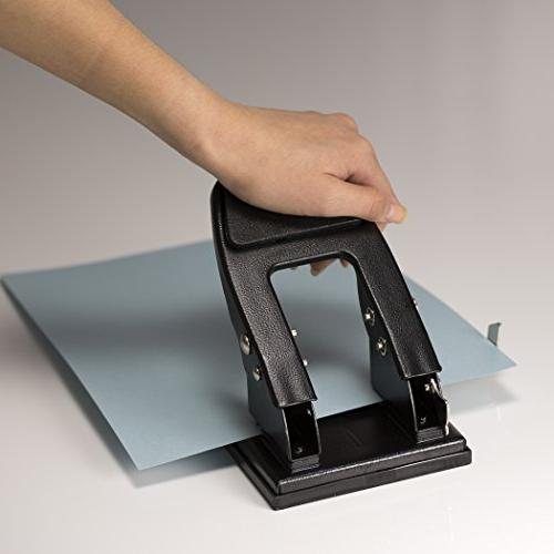 Officemate Duty Punch, Padded Handle, Black, 50-Sheet