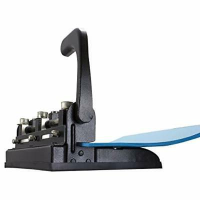 Heavy Duty Adjustable Hole Punch With Handle, 32-Sheet Capacity,