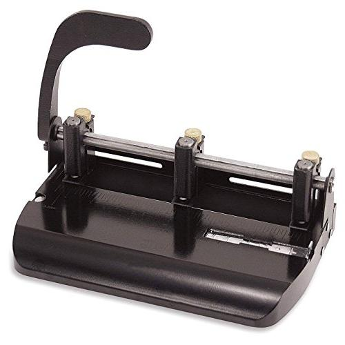Officemate Adjustable 2-3 with Lever 32-Sheet Capacity, Black