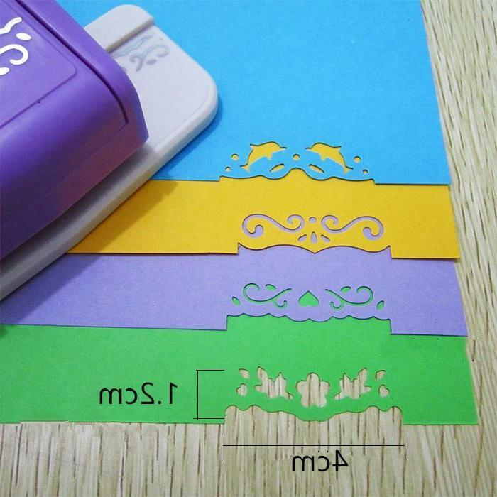 High Quality Scrapbooking Paper hole punch Flower Edge Paper