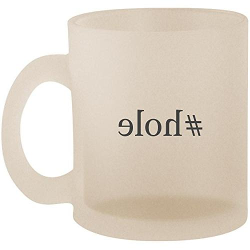 #hole - Hashtag Frosted 10oz Glass Coffee Cup Mug