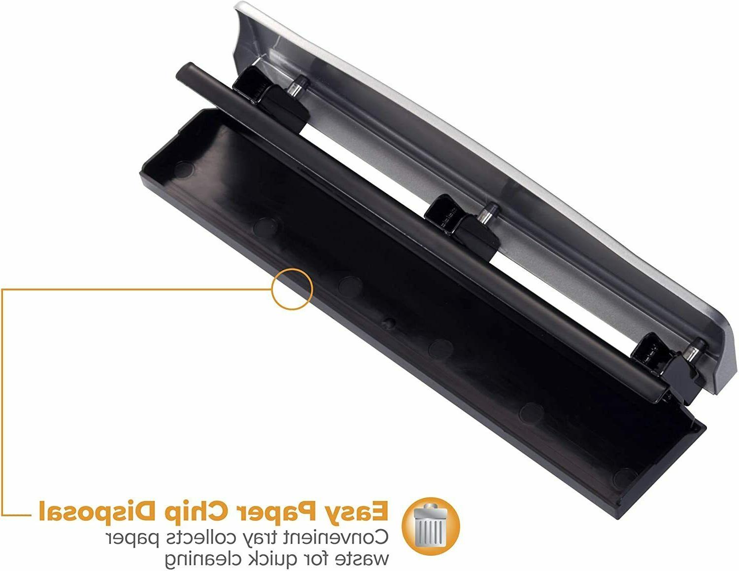 Hole Punch 12 Capacity Metal Silver Crafts Punches Accessory