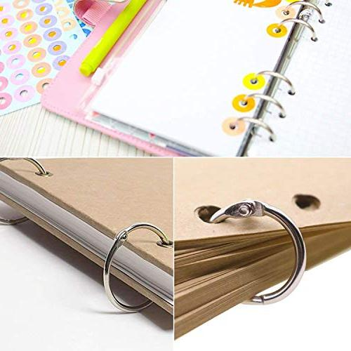 Metal Paper Single Hole Rings School Card