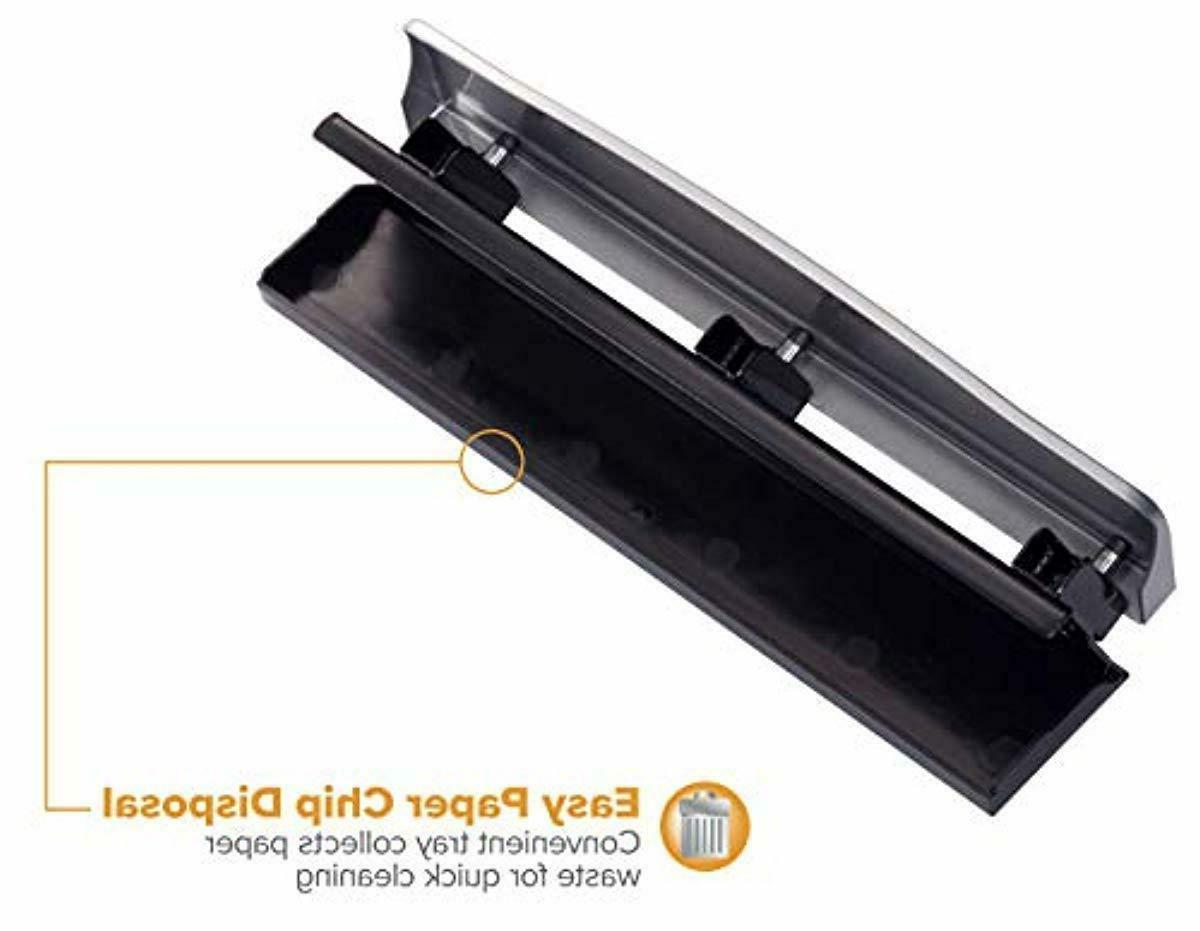Silver Hole Punch 12 Sheet Office Supply Desk