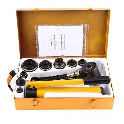 10 T Hydraulic Metal Hole Punch Knockout Set with 6 Dies Too