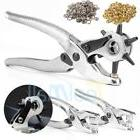 3pc Leather Belt Hole Punch + Eyelet Plier + Snap Button Gro