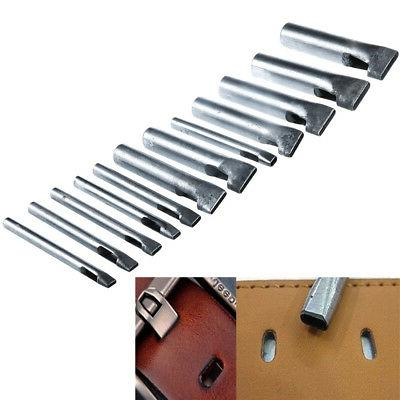 12x Leather Craft Rectangle Punch Hole Tools