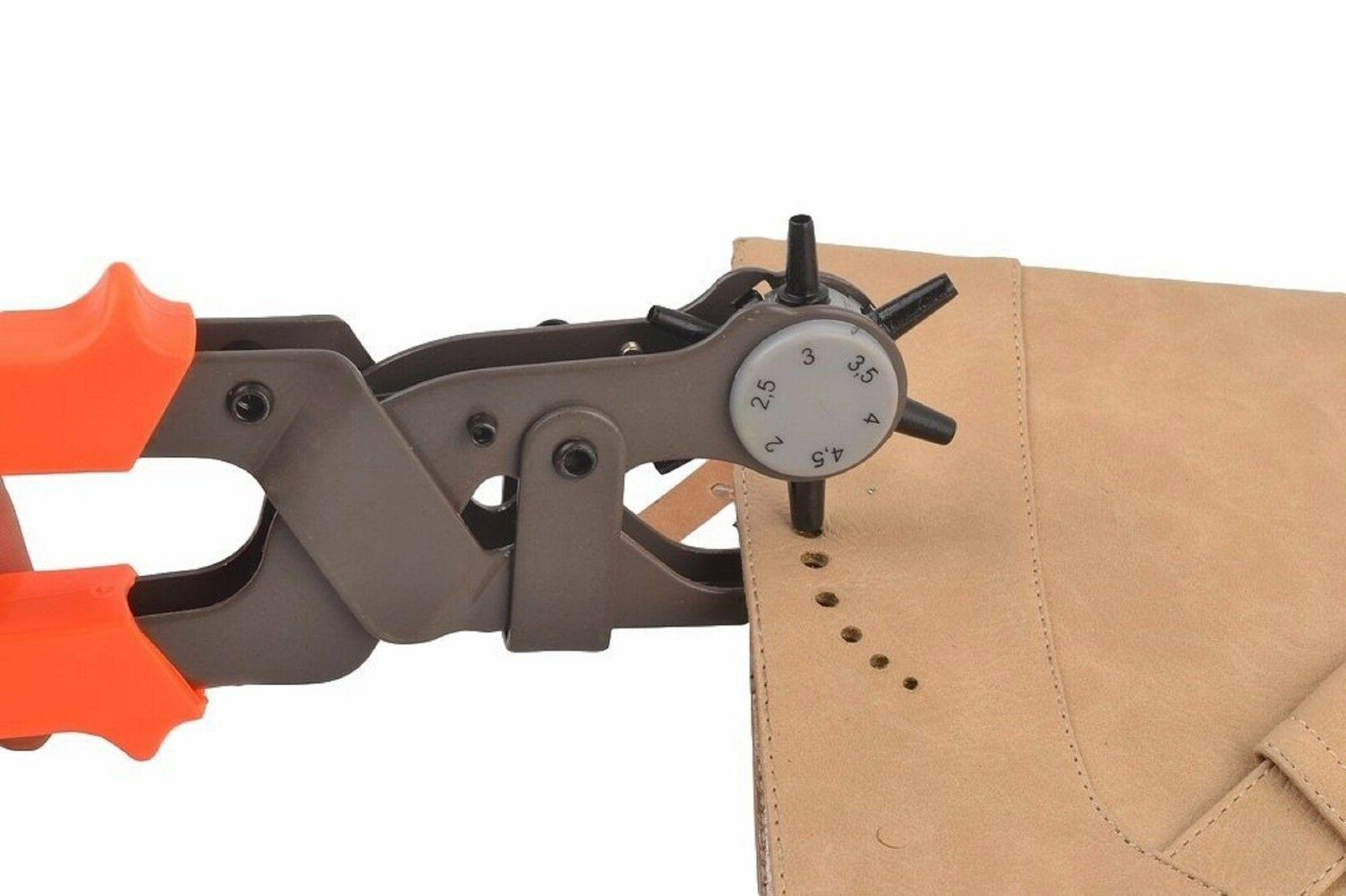 Leather Hole Punch Tool, Heavy Duty Heavy Leather Hole Pliers Belt Punches