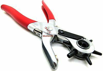 LEATHER REVOLVING HOLE Hand Pliers NEW