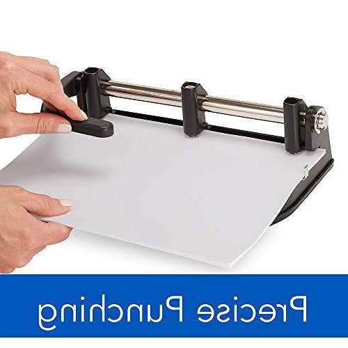 Swingline Punch, Adjustable, Puncher, 32 Sheet Punch Capacity, Black/Silver