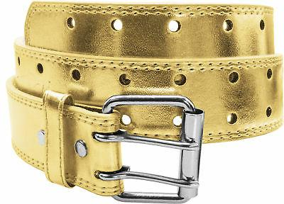Punch Leather Belt Womens
