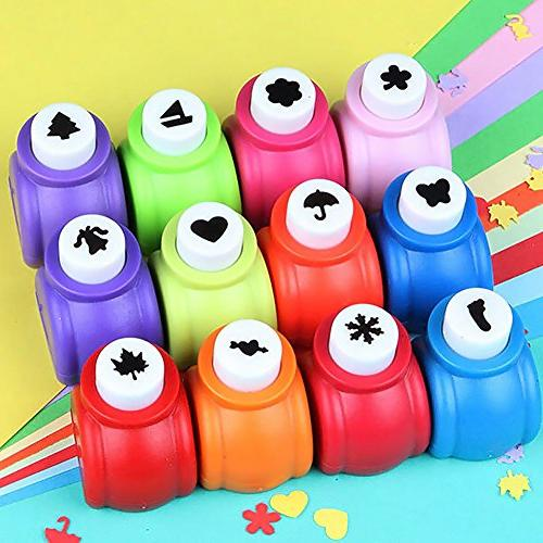 LoveInUSA 10Pcs Scrapbooking Punches Puncher Hand Press Shapes Random Valentine's Gifts
