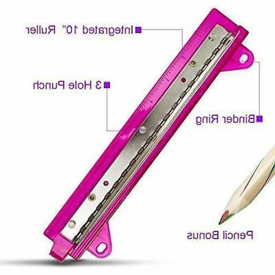 Portable Paper Punch With Bonus Pencil Office