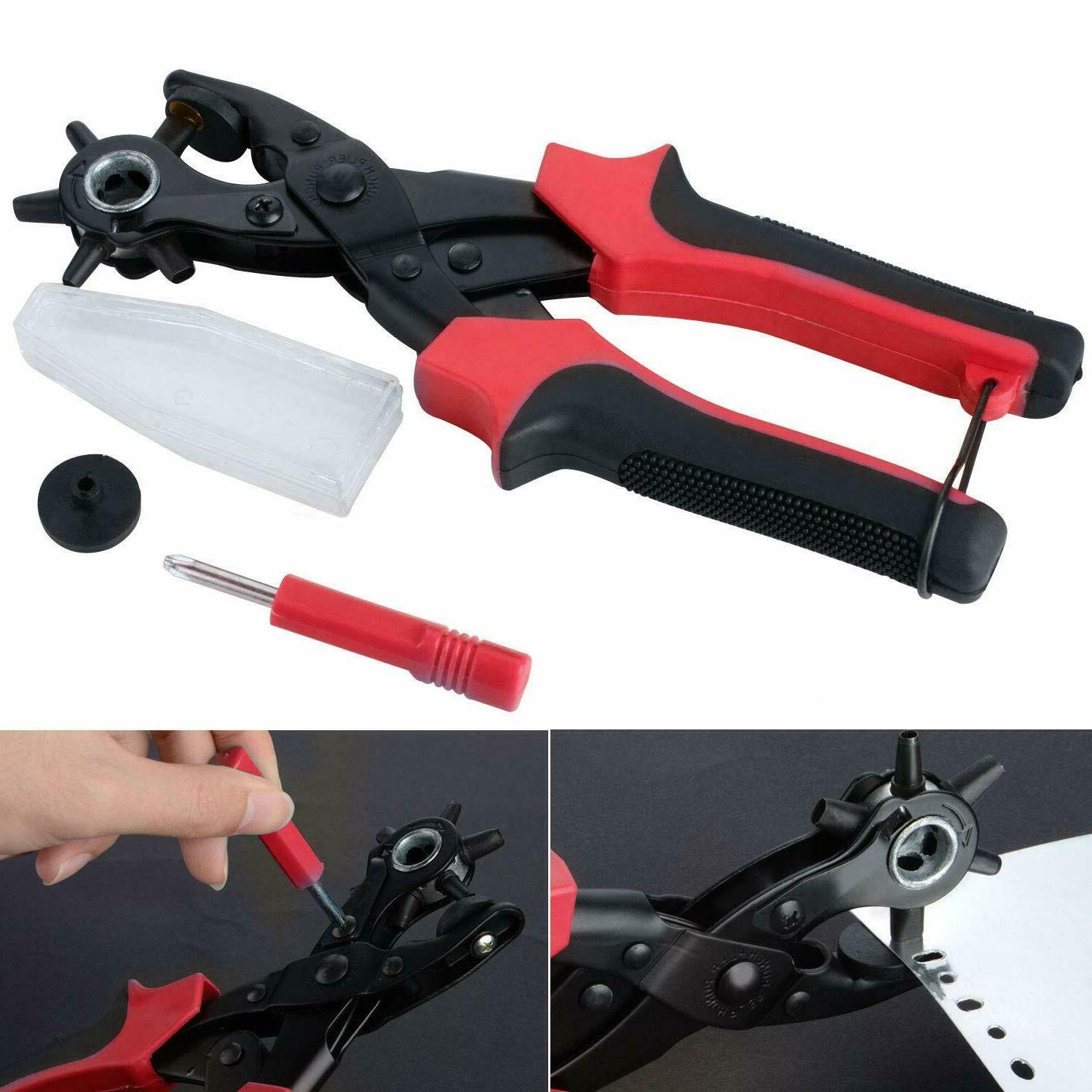 Professional Tool Hole Pliers Heavy Belt Puncher US