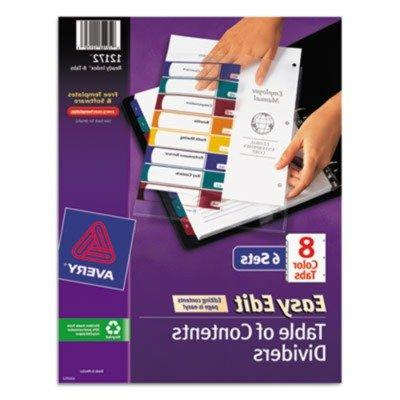 Avery - Ready Index Easy Edit Contents Dividers, Title 1-8,