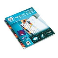 ready index table contents dividers