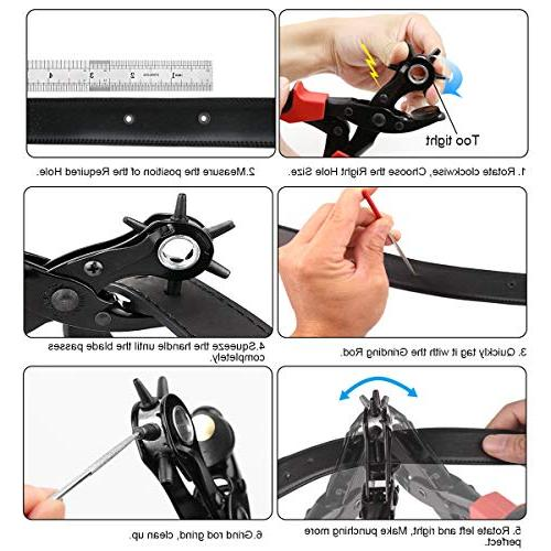 XOOL Punch Kit, Hole Pad, Screwdriver Rod for Paper,