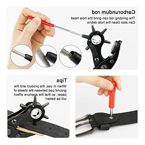 XOOL Punch Kit, including Pad, Screwdriver Watch Strap, Shoe, Fabric, Paper,