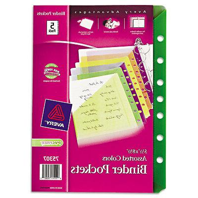 small binder polypropylene pockets 7 hole punched