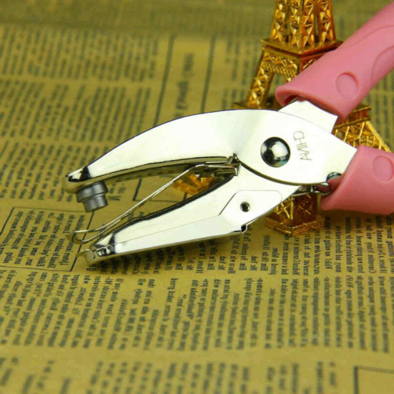 US Heart Hole Punch Grip Paper Hand Puncher Tools Craft