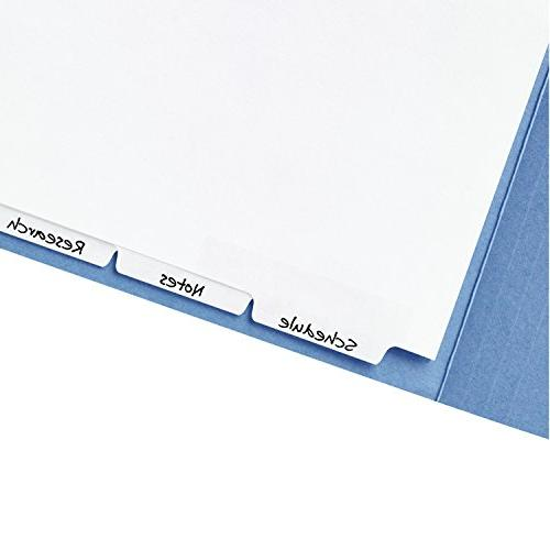 Avery Dividers for 2-Prong Classification Narrow Bottom Tabs, Set