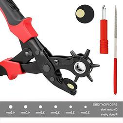 Xubox Leather Hole Punch Tool, Professional Revolving Punch