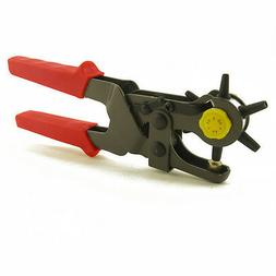 Leather Hole Punch Hand Pliers Belt Punches Revolving 6 Size