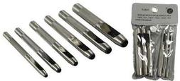 6pc Heavy Duty Leather Hollow Hole Punch Set-1/8 5/32 3/16 7