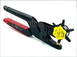 LEATHER REVOLVING HOLE PUNCH Heavy Duty 6 Size Pliers Punch