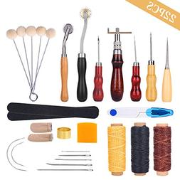 Leather Sewing Tools YESURPRISE 22 Pieces Leather Craft Tool