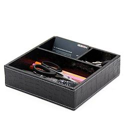 Iremico Leatherette Valet Tray 3- Compartments Valet Tray Ca