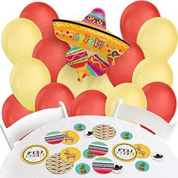 Let's Fiesta - Confetti and Balloon Mexican Fiesta Party Dec