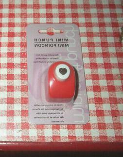 """LOT of 5 RED paper hole punch 3/8"""" confetti HEART engaged we"""
