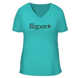 BH Cool Designs #McGill - Cute Women's V Neck Graphic Tee, A