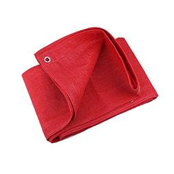 Shade Cloth MEIDUO 95% Red Rectangle Sun Shade Sail Canopy -