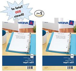 Avery Mini Filler Paper, 5.5 x 8.5 Inches, 200 Sheets