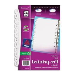 Avery Mini Preprinted Dividers with A-Z Tabs, 5.5 x 8.5-Inch
