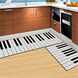 CarPet 2PCS Modern Kitchen Mat Cheaper Anti-Slip Area Rugs L