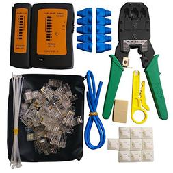 ILIVABLE Network Cable Repair Tool Kit, Professional Crimpin