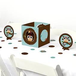 Big Dot of Happiness Owl - Baby Shower or Birthday Party Cen