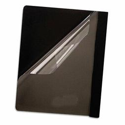 Premium Paper Clear Front Cover, 3 Fasteners, Letter, Black,